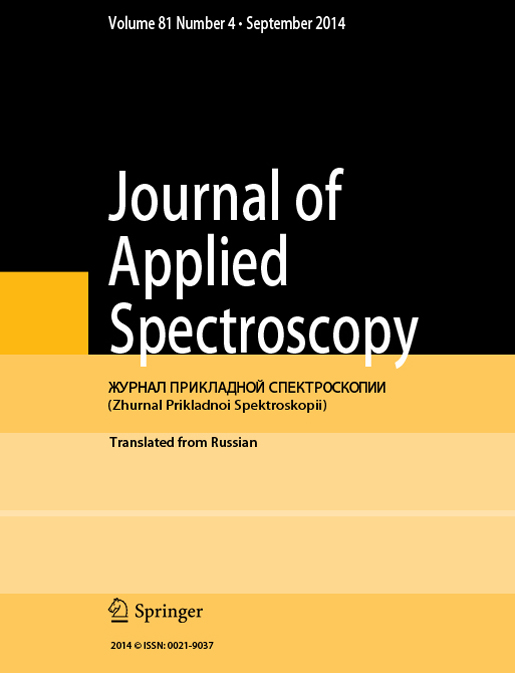 Journal of Applied Spectroscopy 2014